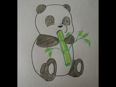 How to Draw a Cartoon Panda Baby: easy drawing step by step for ...