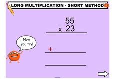 Explore different methods for multiplying large numbers. A fantastic IWB lesson for upper primary.