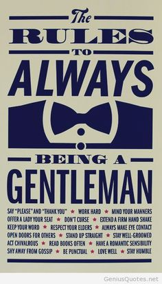 Being a gentleman quote the rules