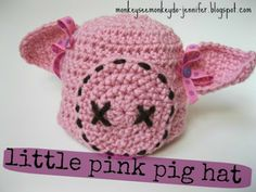 Monkey See, Monkey Do!: Little Pink Pig Hat: Free Crochet Pattern