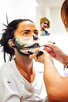 Creating Halloween Makeup on Katie Price.  By Karla Powell