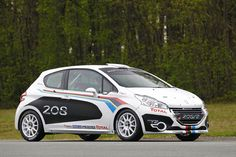 The FIA's rally class offers factorry-tuned racers at privateer costs. Peugeot has unleashed its 208 in asphalt and gravel versions, powered by a Peugeot 208, Thing 1, Mechanical Design, Rally Car, Sport Cars, French, Vehicles, Sports, Hatchbacks