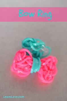 How to Make a Rainbow Loom Bow Ring