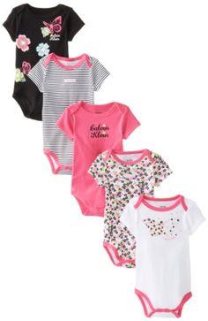 Calvin Klein Baby-Girls Newborn 5 Pack Bodysuit, Pink/Black, 3-6 Months Calvin Klein,http://www.amazon.com/dp/B00EOHWR1K/ref=cm_sw_r_pi_dp_Lzb6sb0RC4DH82PV