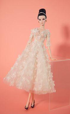 white flower dress for fashion royalty poppy parker by Rimdoll