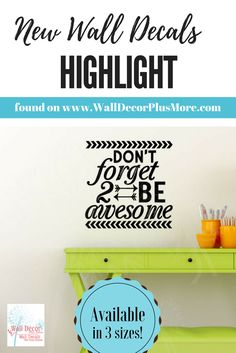 BE awesome arrows wall vinyl decal inspirational reminder vinyl sticker
