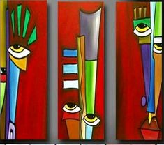 Art 'Apart' – by Thomas C. Fedro from Faces Art 'Apart' – by Thomas C. Fedro from Faces Pintura Graffiti, Cubist Art, Abstract Face Art, Motif Art Deco, African Paintings, Africa Art, Modern Art Paintings, Diy Canvas Art, Arte Pop