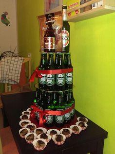 Geburtstagstorte für echte Männer #beer #cake #birthday #meatballs