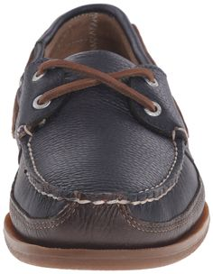 eaf8ba3e4e4 Sebago Mens Schooner Boat Shoe Navy Brown Leather 11 M US     Want  additional info  Click on the image. (This is an affiliate link)   TimberlandClassicShoes