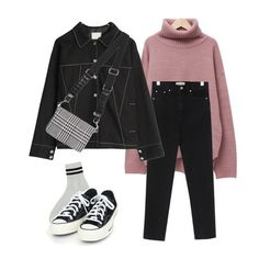 Kpop Outfits, Korean Outfits, Fashion Outfits, Korean Street Fashion, Korea Fashion, Cute Casual Outfits, Stylish Outfits, Casual Teen Fashion, Cute Sweatpants Outfit
