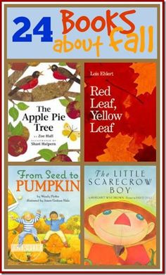 24 Fall Books for Kids - great list of books for kids, preschool, 1st, or 2nd grade. Fun books for kids!