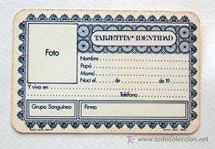 Tarjetita de Identidad para niños y niñas de Nenuco, el benjamín de Famosa. 1977 - Foto 3