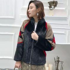 0d37d968d8b LVCHI 2018 invierno abrigo de piel de visón Real abrigo de piel mujeres  Thicken Full Pelt