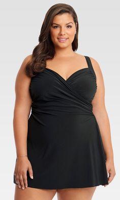 20 Plus Size Black Swimdresses - Plus Size Swimwear - Plus Size Swimsuit - Bathing Suit - alexawebb.com #alexawebb #plussizeswimwear #Plussizeswimwear&bathingsuits