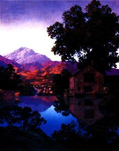 "Maxfield Parrish ""Millpond"""