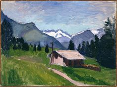 Savoy Alps, 1901 by Henri Matisse. Impressionism. landscape. Paris, musée Picasso #fauvism #impressionist