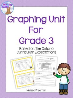 This Graphing Unit for Grade 3 contains lesson ideas, worksheets, task cards and a test, all based on the Ontario Curriculum expectations.