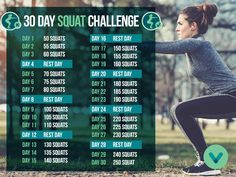 Want buns of steel this summer? Take the 30 Day Squat Challenge! #VitaminWorld
