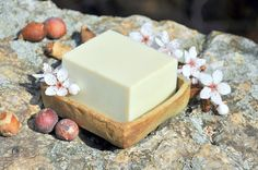 """Our beloved simple soap """"Floating clouds"""" for very sensitive skin is made of organic shea butter, organic cocoa butter, organic coconut milk, coconut and castor oil."""