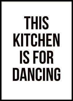 Cuadro de cocina con texto en blanco y negro, bonito print para la cocina con te