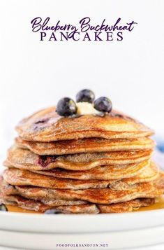 This Blueberry Buttermilk Buckwheat Pancakes recipe is a delicious, healthier alternative to traditional buttermilk pancakes. They're light and have a slightly nutty flavor. Homemade Pancakes, Buttermilk Pancakes, Breakfast Pancakes, Pancakes And Waffles, Souffle Pancakes, Best Pancake Recipe, Pancake Recipes, Dessert Recipes, Buckwheat Pancakes