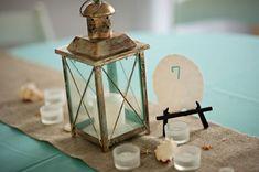 Aqua Florida Beach Wedding-Love the Sand Dollar Table Setting