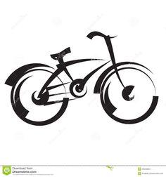 bicicleta-desenho-da-carta-branca-vetor-preto-e-branco-26946684.jpg (1300×1390)