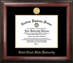 campus images st cloud state embossed diploma frame 85 x 11 gold learn more