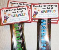 sparkler party favor, party favor tags, fireworks, firework clip art