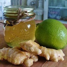 "How to Make Homemade ""Gingerade"" for Colds and Coughs. Grate 1 ginger root and steep in 4 cups of hot water. Add one lemon/lime and enough raw honey to taste. Grate in some lemon/lime zest. Cold Remedies, Natural Health Remedies, Herbal Remedies, Natural Cures, Natural Healing, Health And Wellness, Health Tips, Health Fitness, Natural Medicine"