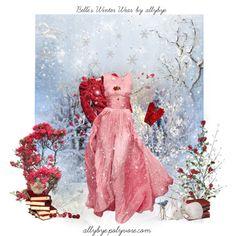 """""""Belle's Winter Wear"""" by allybye on Polyvore"""