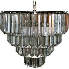 Check out this item at One Kings Lane! Midcentury Lucite Chandelier