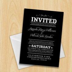 Cowboy Fun Wedding Invitation DIY Printable by MadeByBree on etsy