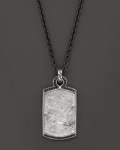 John Hardy Men's Classic Chain Silver Batu Dog Tag Pendant with Me