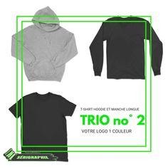 TRIO #2 MULTI à partir de 25 vêtements Creation T Shirt, Raglan, Adidas Jacket, Athletic, Crop Tops, Jackets, Women, Fashion, Long Dress Patterns
