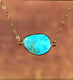 SALE Turquoise Necklace December Birthstone by MamacitaStudios