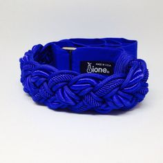 Blue Vintage 1980s Rope Cinch Belt from Ione, Medium, 26-36 inches long, Velcro Closure, Small Medium Large, Looks to have never been worn