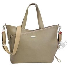 Storksak Lucinda Tote Diaper Bag  Taupe Textured Leather