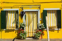 Burano facade by Stéphanie Masson on 500px - Colorful house facade in Burano, Venice.