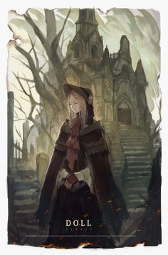 Bloodborne Characters, Bloodborne Art, Art Drawings, Painting Illustrations, Drawing Faces, Digital Painting Tutorials, Matte Painting, Dark Souls, Character Design Inspiration