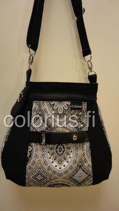 ornamentti kulta laukku käsilaukku handbag colorius vaihtokuoret