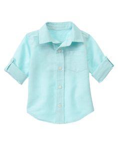 Roll Cuff Linen Blend Shirt at Gymboree