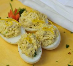 tuna stuffed eggs, awesome