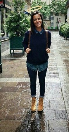 Timbs shy'm Mode Timberland, I Icon, Street Style, Stylish Outfits, Style Me, Hipster, Lady, How To Wear, Image