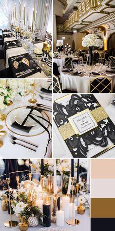 Luxury Black Shimmer Laser Cut Wedding Invitations With Gold Glittery Mirror Paper - Pro Wedding Invites Black And White Wedding Theme, Gold Wedding Theme, Gold Wedding Decorations, Cream Wedding, Wedding Colors, Wedding Ideas, Wedding Themes, Wedding Centerpieces, Wedding Reception