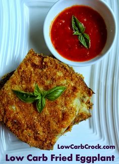 This easy low carb fried eggplant is great by itself or served with some no-sugar marinara sauce and cheese!Ingredients:Approx. 1 pound of raw eggplant (sliced in 1/4 inch slices lengthwise) [10 g.…