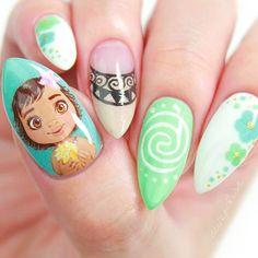Moana Nail Art by cutepolish