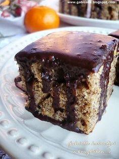 Diós kavart sütemény csokimázzal - egy igazi Nagyi süti