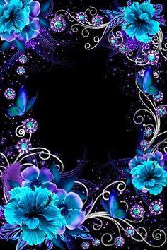 blues flowers Wallpaper by kaeira - ea - Free on ZEDGE™ Flower Phone Wallpaper, Heart Wallpaper, Butterfly Wallpaper, Cute Wallpaper Backgrounds, Flower Backgrounds, Cellphone Wallpaper, Galaxy Wallpaper, Beautiful Flowers Wallpapers, Beautiful Nature Wallpaper