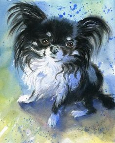 Chihuahua+Watercolor+Original+Painting+of+Starla+от+rachelsstudio,+$99,99